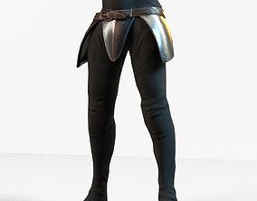 game-ready Warrior Belt Pant Model