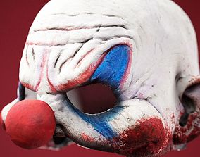 3D asset Scary Bloody Horror Clown Mask