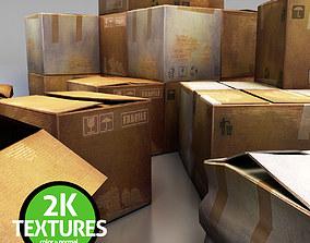 Cardboard Boxes 3D asset