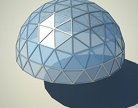 Metallic structure truss 06 Dome 3D model