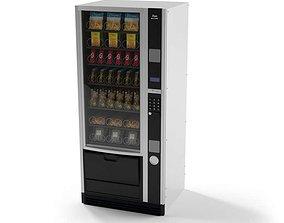 3D model Black Vending Machine