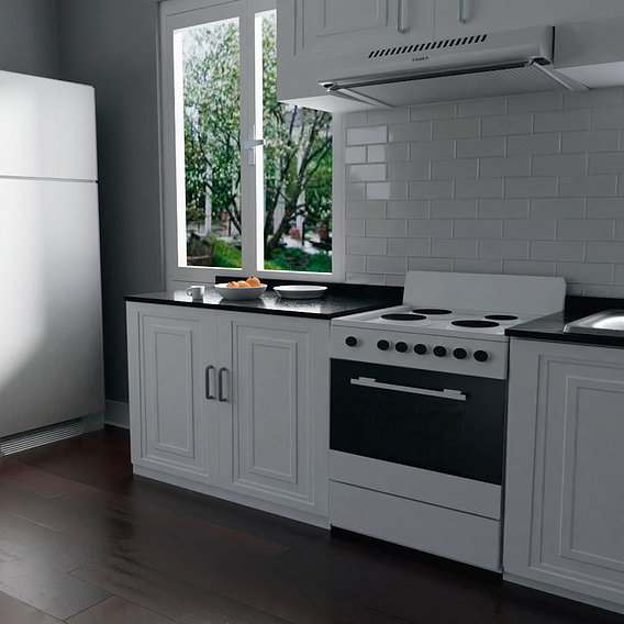 Kitchen Render 3D #2