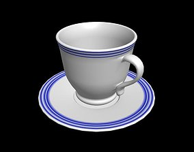 3D model game-ready houseware coffee cup