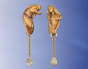 Instinto Dominio Earrings Luxury Gold 3D printable model