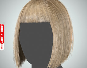 Hair - Bob Cut with Bangs - Gen2 3D asset