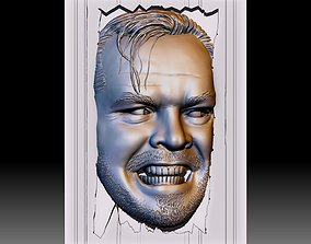 Portrait STL model Bas-relief 3d file Shining Jack 1