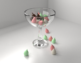 Chocolate Chips in a Bowl 3D