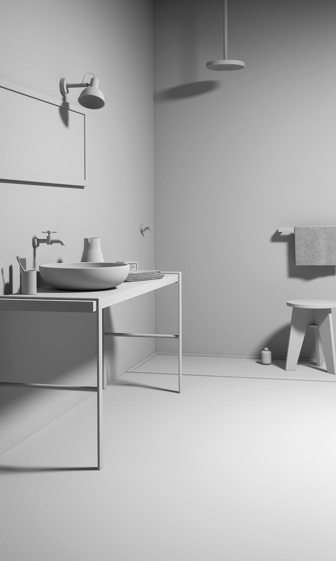 Modern Bathroom   3D Recreation