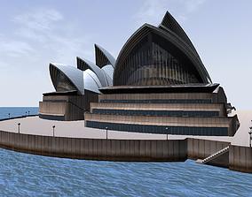 Sydney Opera House lowpoly 3d model VR / AR ready
