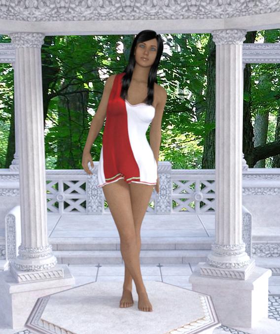 Roman Short Dress