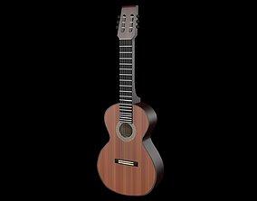 Guitar 3D model instrument musical