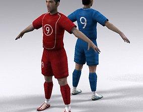 Soccer player 3D asset