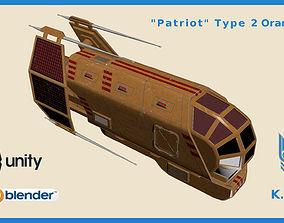 Spaceship Patriot Type 2 Orange 3D model