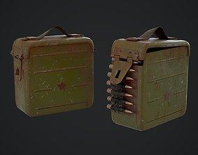 VR / AR ready Ammo Box Low-poly 3D model