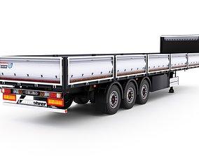 3D model Kassbohrer semi trailer