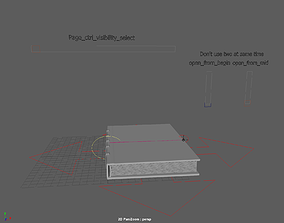 3D model openable book