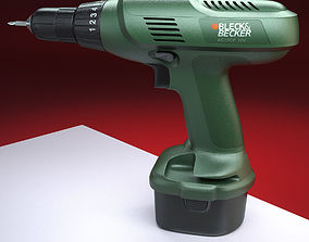 Cordless screwdriver - drill 3D