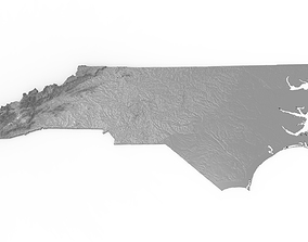 3D printable model North Carolina Relief Map