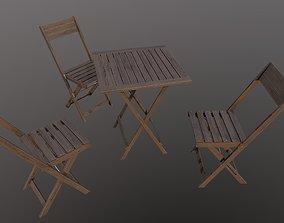 Furniture for a summer cafe FREE 3D model