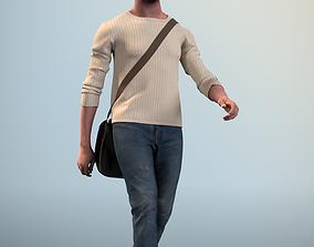 Bruce 20376-11 - Animated Walking Man 3D asset
