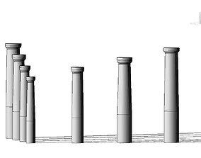 VR / AR ready 3D Parametrich Doric Column REVIT - 3Ds max