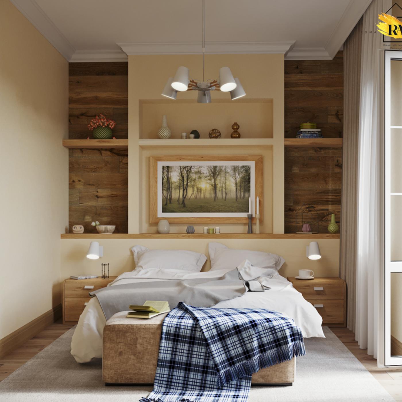 Gentle and comfortable bedroom