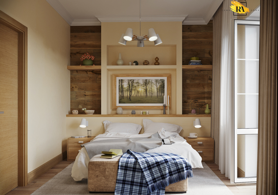 Gentle and comfortable bedroom