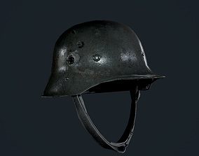 3D model Military German WW2 Helmet