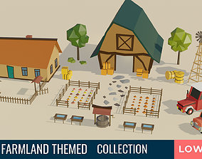 Farmland Themed LOW POLY Collection 3D model
