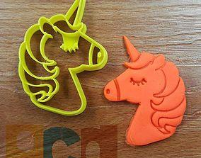 Unicorn cookie cutter stl file 3D print model
