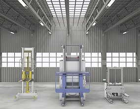 Industrial forklift assembly 3D