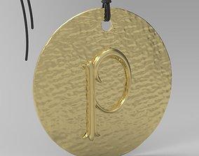 Alphabet Latin P printable 3D printable model