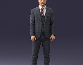 Man in suit 0904 3D Print Ready