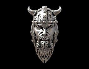 Viking head necklace 3D print model