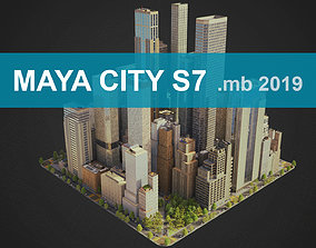 City S7 MAYA 3D asset