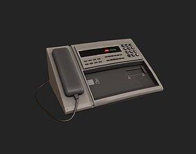 Stylized Fax Machine 3D model low-poly