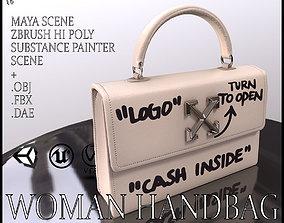 Woman Handbag Louis Vuitton 3D asset low-poly PBR