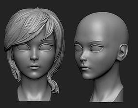 Anime head 3D print model