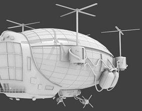 Steampunk Zeppelin 3D asset