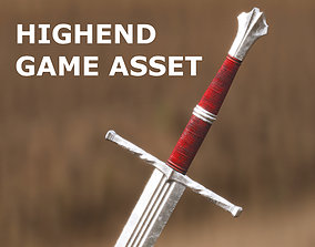 3D asset Medieval Sword for Games and Cinematics 01