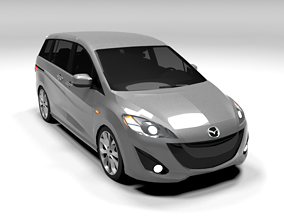 3D asset MAZDA 5 LOWPOLY