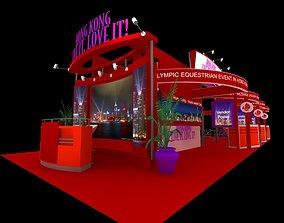 Hong Kong Tour Exhibition 6x15 Booth 3D asset