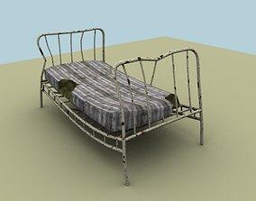 3D asset broken bed