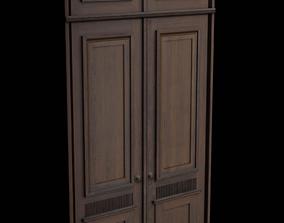Wooden Door Lowpoly 3D model