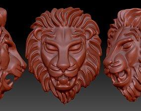 lion head 3D printable model sculptures art