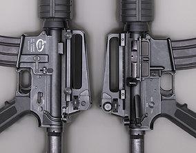 M4A1 Rifle 3D model low-poly