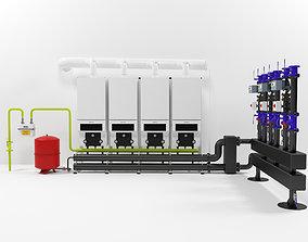 3D Buderus GB162-100 400kW cascade heating instalation