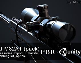 Barrett M82A1 3D asset game-ready