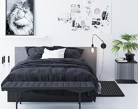 Bed 2 3D model furnishing