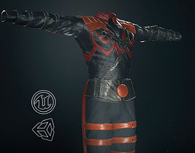 Male Assassin Outfit 3 3D model